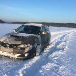 Такси на замершем озере
